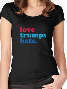 Love Trumps Hate Authentic Women's Fitted Scoop T-Shirt