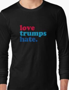 Love Trumps Hate Authentic Long Sleeve T-Shirt