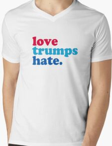 Love Trumps Hate Authentic Mens V-Neck T-Shirt