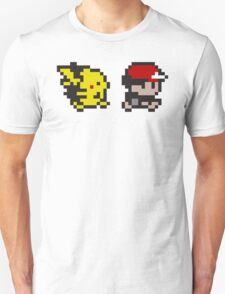 Retro 90s Pixel Pokemon Ash and Pikachu Unisex T-Shirt