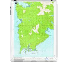 USGS TOPO Map Alaska AK Sitka A-2 359077 1951 63360 iPad Case/Skin