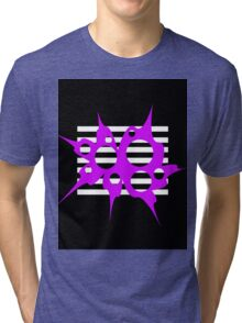 Purple, black and white abstraction Tri-blend T-Shirt