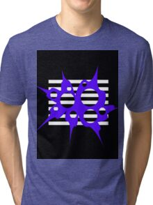 Blue, white and black abstraction Tri-blend T-Shirt