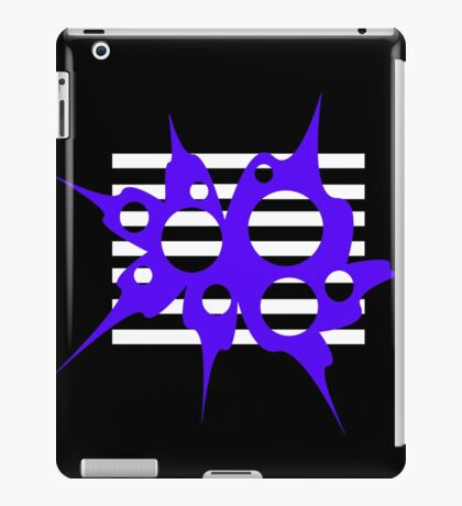 Blue, white and black abstraction iPad Case/Skin
