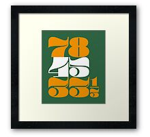 Vinyl Countdown (orange) Framed Print