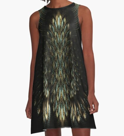 Egyptian Gold A-Line Dress