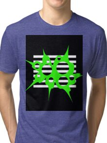 Green, black and white abstraction Tri-blend T-Shirt