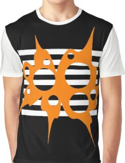 Orange, white and black abstraction Graphic T-Shirt