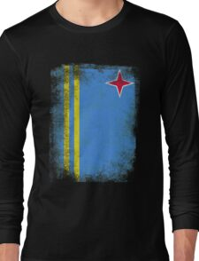 Aruba Flag Proud Aruban Vintage Distressed Long Sleeve T-Shirt