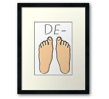 De-Feet Framed Print