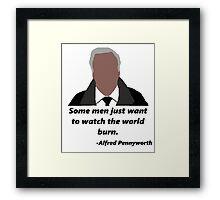 Alfred Pennyworth - Batman  Framed Print