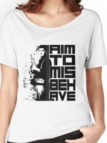 I Aim To Misbehave Women's Relaxed Fit T-Shirt