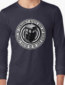 Never Cruel Or Cowardly - Doctor Who - Black TARDIS Long Sleeve T-Shirt