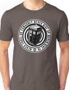 Never Cruel Or Cowardly - Doctor Who - Black TARDIS Unisex T-Shirt