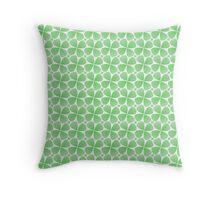 Four-Leaf Clovers Throw Pillow