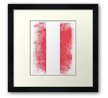 Austria Flag Proud Austrian Vintage Distressed Framed Print