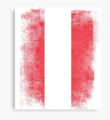 Austria Flag Proud Austrian Vintage Distressed Canvas Print