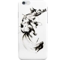 The Cunning Fox - Japanese Style (Black) iPhone Case/Skin