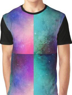 Mystical azure galaxy Graphic T-Shirt