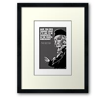 William Hartnell - The First Doctor Framed Print