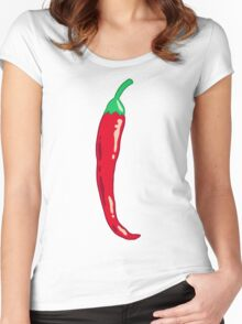 big spicy Women's Fitted Scoop T-Shirt