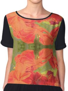 Summer Rouge Red #redbubble Chiffon Top