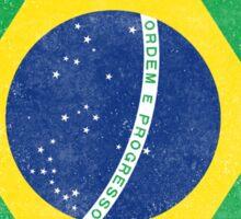 Brazil Flag Proud Brazilian Vintage Distressed Sticker