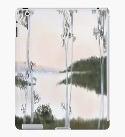 Digitally Drawn Birch Tree Landscape iPad Case/Skin