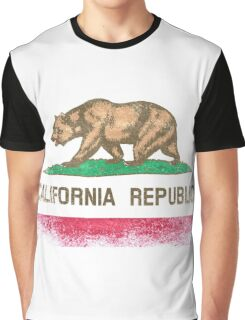 California State Flag Distressed Vintage Graphic T-Shirt