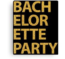 Black Bachelorette Party With Gold Sequins Effect Canvas Print