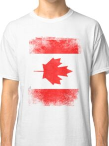 Canada Flag Proud Canadian Vintage Distressed Classic T-Shirt