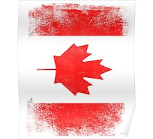 Canada Flag Proud Canadian Vintage Distressed Poster
