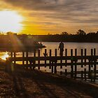 Sunset on the Murray River by indiafrank