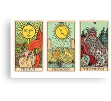 The Sun, The Moon, The Truth [Tarot] Canvas Print