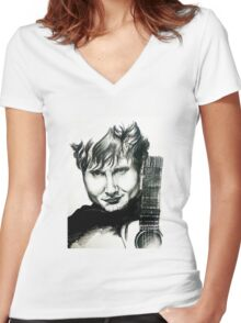 Ed Sheeran Women's Fitted V-Neck T-Shirt