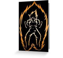 The Power of the Super Saiyan Greeting Card