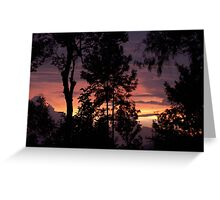 Sunset, Nilgiri Hills Greeting Card