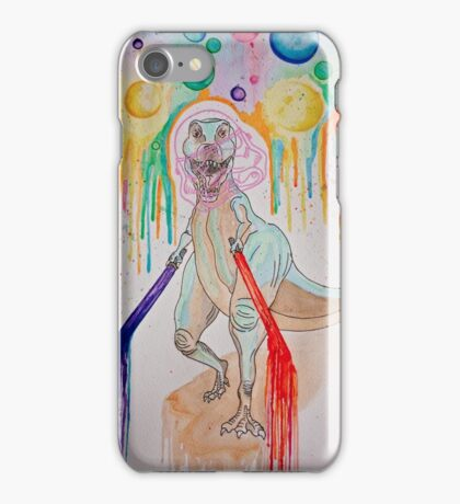 Space-rex got Lightsabers B*itches iPhone Case/Skin
