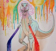 Space-rex got Lightsabers B*itches by KaliDinosaur