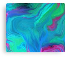 AGATE BLUE ABSTRACT OIL PAINTING Canvas Print