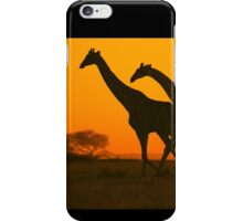 Giraffe Golden Run - African Wildlife Background iPhone Case/Skin