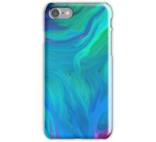 AGATE BLUE ABSTRACT OIL PAINTING iPhone Case/Skin
