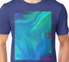 AGATE BLUE ABSTRACT OIL PAINTING Unisex T-Shirt