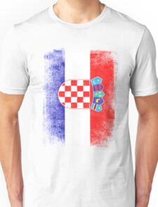 Croatia Flag Proud Croatian Vintage Distressed Shirt Unisex T-Shirt