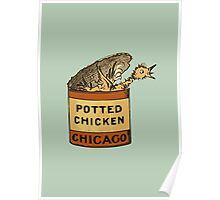 Potted Chicken Poster