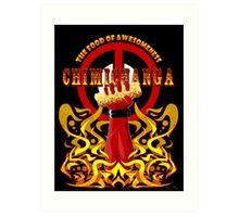 Deadpool and Chimichanga Art Print