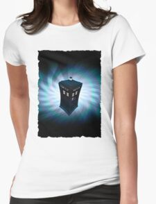 Tardis Explodes Womens Fitted T-Shirt