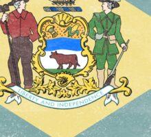 Delaware State Flag Distressed Vintage Sticker