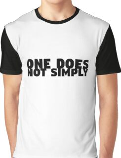 One Does Not Simply Boromir Quote Meme Funny Random Graphic T-Shirt
