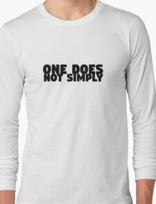 One Does Not Simply Boromir Quote Meme Funny Random Long Sleeve T-Shirt